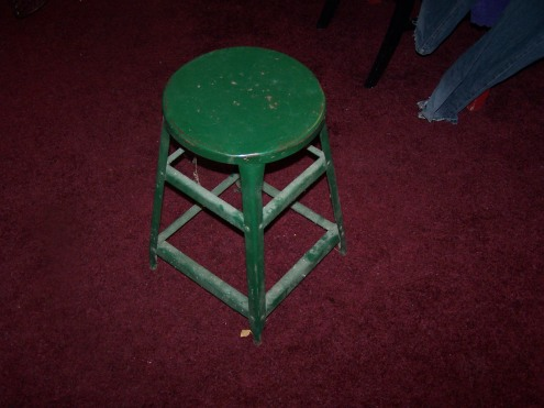 Littl metal stool before.