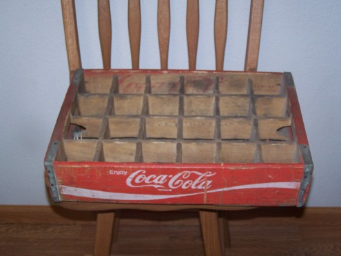 A coke box with the cubbies still in.  I have been wanting to hang one of these up for a trinket shelf.