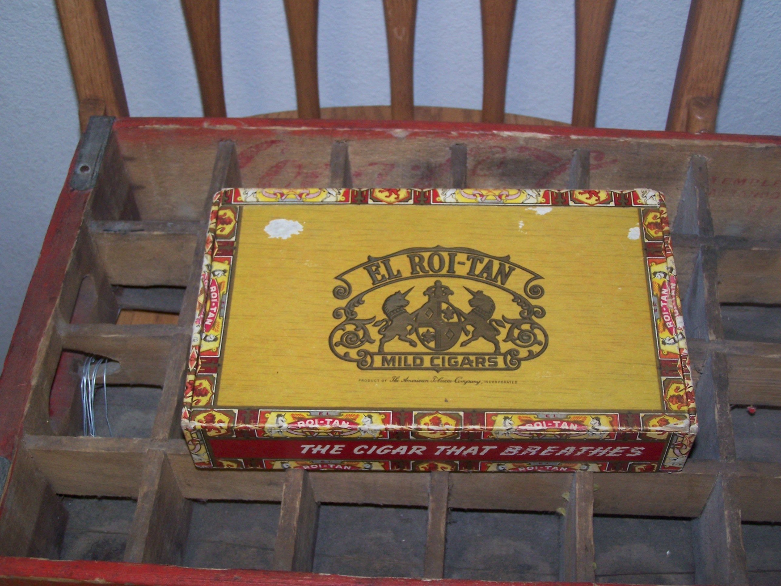 This is a very old cigar box.  I though this would be beautiful to hold little odds and ends.