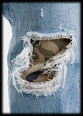 How to recycle jeans & Save money by gogreen.savegreen