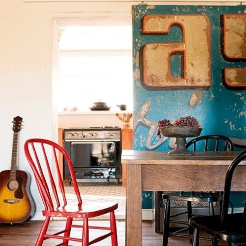 This is a vintage sign remade into a sliding door.  I'm sorry, but I do not find where the image came from!
