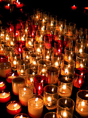 Candles glowing... by annpar (Flickr)