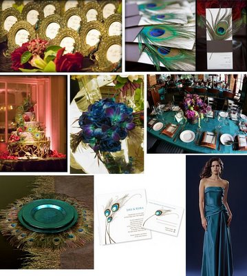 http://tastefullyentertaining.blogspot.com/2008/09/peacock-feather-wedding.html