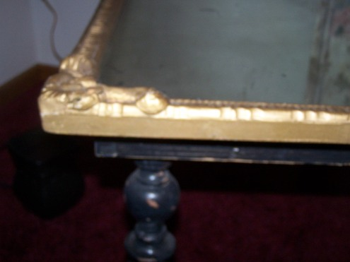 The mirror top of our coffee table.