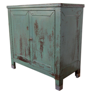 A metal cabinet.  This would be cute in almost any room.