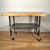 A 1940's wheeled cart.  This would be great for a kitchen island!
