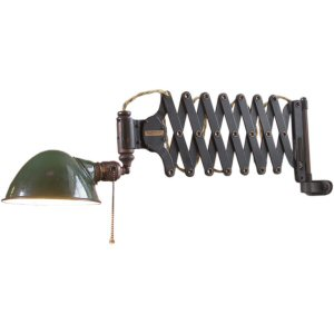 A scissor wall light.  A pair of these would make great bedside lamps.