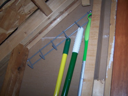 The row of hooks that proved to be a simple and inexpensive solution to a daily annoyance.