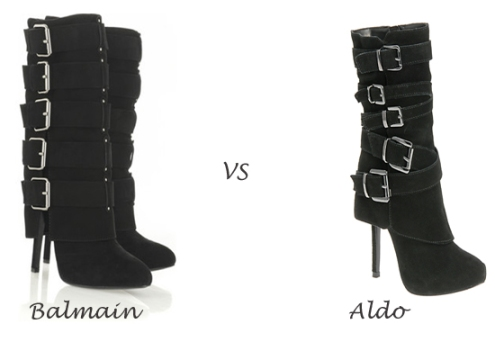 http://fashionbombdaily.com/2009/12/04/rip-the-runway-balmain-vs-aldo/