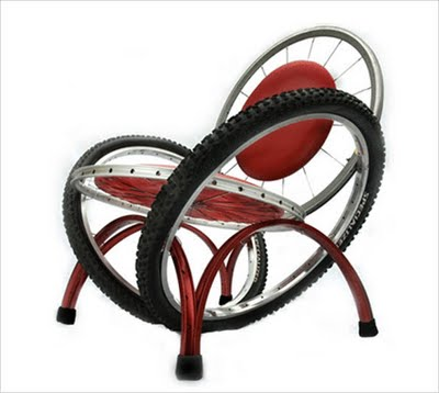 I think this recycled chair would be very neat in a game room or boys room or hang out spot.