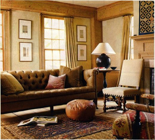 Living room make mine eclectic for Country style family room ideas